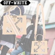 Off-White Casual Style Leather Totes