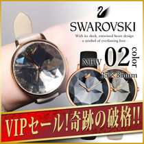 SWAROVSKI Round Quartz Watches Elegant Style Analog Watches