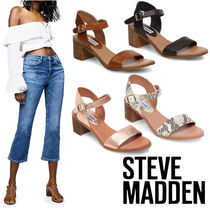 Steve Madden Open Toe Casual Style Plain Other Animal Patterns