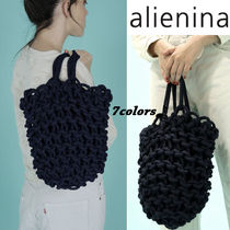 alienia Casual Style 2WAY Plain Handmade Totes