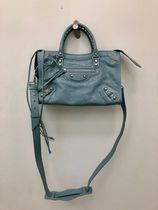 BALENCIAGA CITY Street Style 2WAY Plain Elegant Style Shoulder Bags