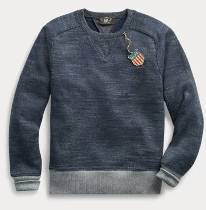 RRL Street Style Long Sleeves Plain Cotton Surf Style