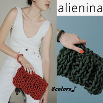 alienia Casual Style 2WAY Plain Handmade Clutches