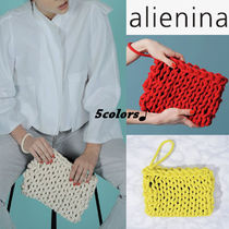 alienia Casual Style Plain Handmade Clutches