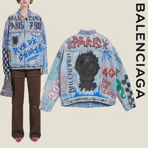 BALENCIAGA Casual Style Denim Oversized Jackets