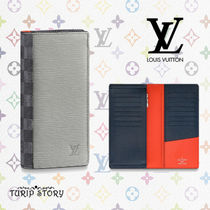 Louis Vuitton DAMIER GRAPHITE Blended Fabrics Long Wallets