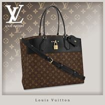 Louis Vuitton CITY STEAMER Monogram Unisex Canvas Blended Fabrics 3WAY Totes