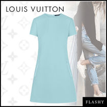 Louis Vuitton A-line Plain Short Sleeves Elegant Style Dresses