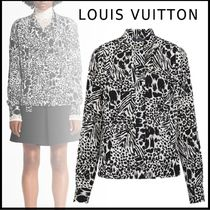 Louis Vuitton 19-20AW LONG SLEEVED PLEATED SHIRT WITH LAVALIERE black