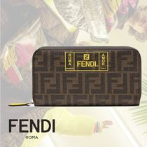FENDI Monogram Unisex Street Style Long Wallets