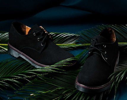 Unisex Collaboration Leather Oxfords