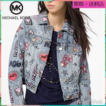 Michael Kors Short Heart Star Casual Style Blended Fabrics Jackets