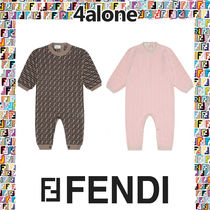 FENDI Street Style Collaboration Baby Girl Dresses & Rompers