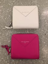 BALENCIAGA Blended Fabrics Plain Folding Wallets