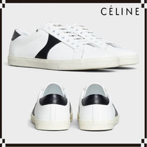 CELINE Triomphe Casual Style Leather Low-Top Sneakers
