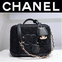 CHANEL MATELASSE Tassel Vanity Bags 2WAY Chain Leather Elegant Style
