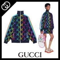 GUCCI Monogram Casual Style Street Style Medium Jackets