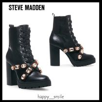 Steve Madden Lace-up Block Heels Lace-up Boots