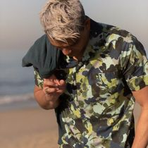 BANKS Camouflage Street Style Cotton Short Sleeves Shirts