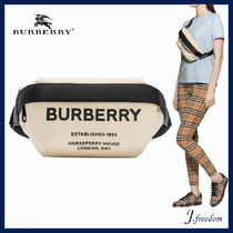 Burberry Casual Style Canvas Shoulder Bags