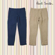 Paul Smith Tapered Pants Linen Street Style Plain Tapered Pants