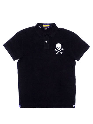Skull Plain Cotton Short Sleeves Polos