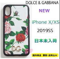 Dolce & Gabbana Flower Patterns Leather Smart Phone Cases