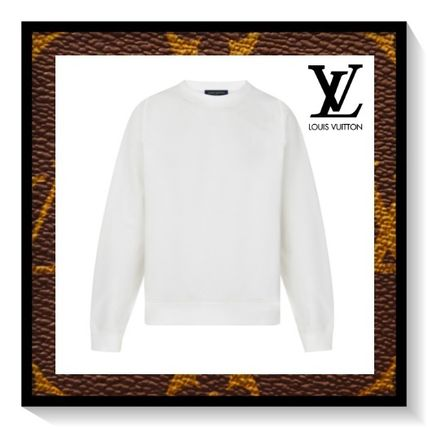 Louis Vuitton Sweatshirts Long Sleeves Plain Cotton Sweatshirts
