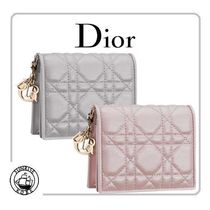 Christian Dior LADY DIOR Lambskin Folding Wallets