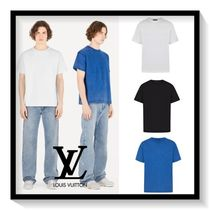 Louis Vuitton Crew Neck Pullovers Plain Cotton Short Sleeves