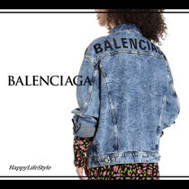 BALENCIAGA Denim Plain Medium Denim Jackets Jackets