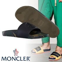 MONCLER Camouflage Unisex Street Style Shower Shoes Shower Sandals