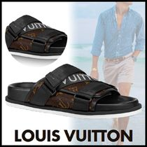 Louis Vuitton MONOGRAM Monogram Blended Fabrics Street Style Bi-color Sandals