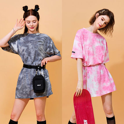 Crew Neck Street Style Cotton Long Short Sleeves T-Shirts