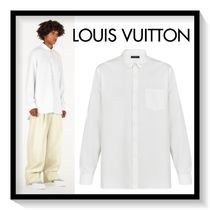Louis Vuitton Silk Long Sleeves Plain Shirts