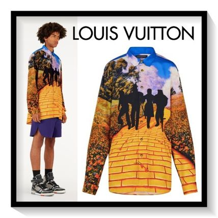 Louis Vuitton Shirts Silk Bi-color Long Sleeves Shirts
