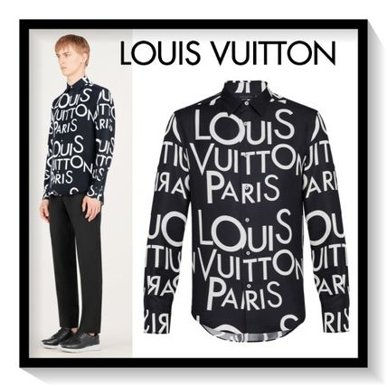 Louis Vuitton Shirts Silk Long Sleeves Shirts
