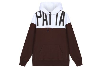 Pullovers Street Style Cotton Logo Hoodies