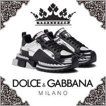 Dolce & Gabbana Blended Fabrics Leather Sneakers