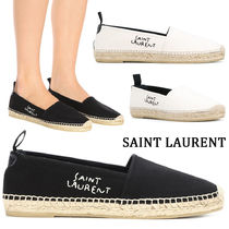 Saint Laurent Round Toe Rubber Sole Casual Style Blended Fabrics Plain