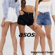 ASOS Short Casual Style Denim Plain Denim & Cotton Shorts
