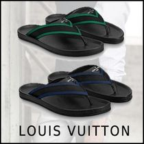 Louis Vuitton 2019-20AW MIRABEAU THONG blue veil 4-14 sandals