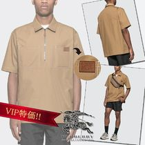 Burberry Street Style Plain Cotton Short Sleeves Shirts