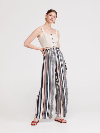 Stripes Casual Style Long Pants