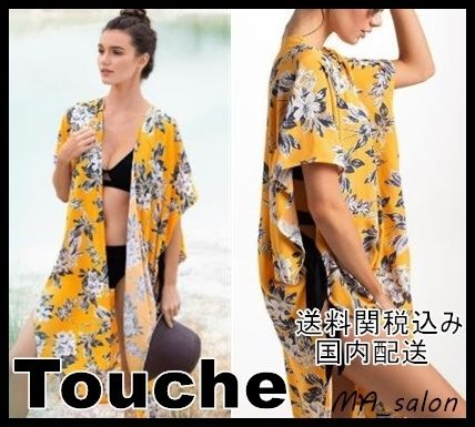 Flower Patterns Beach Cover-Ups