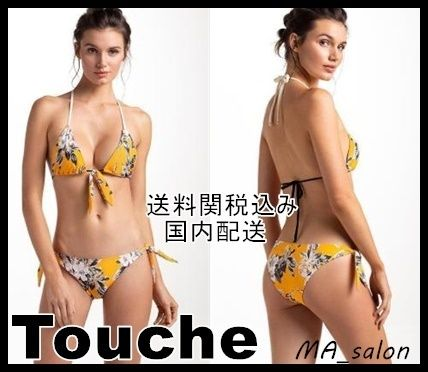 Flower Patterns Halter Beachwear