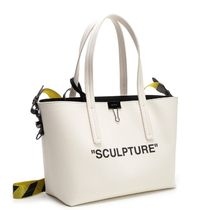 Off-White Canvas Crossbody Logo Totes
