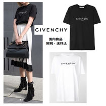 GIVENCHY Crew Neck Plain Cotton Medium Short Sleeves Logo T-Shirts