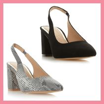 Lipsy Faux Fur Plain Party Style Python Chunky Heels