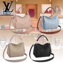 Louis Vuitton MAHINA 2WAY Leather Handbags